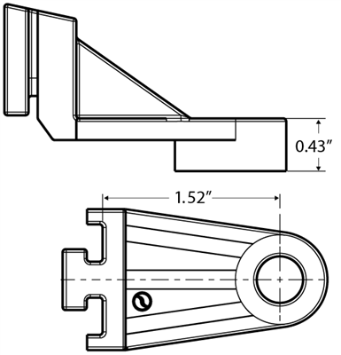 "Mounting foot-Short (Dual 12"" Shroud only)"